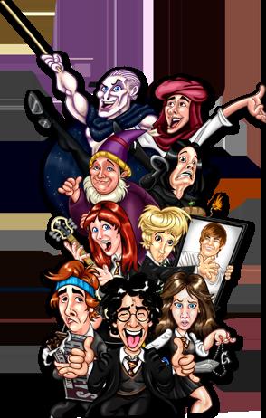 Ilustrace herců